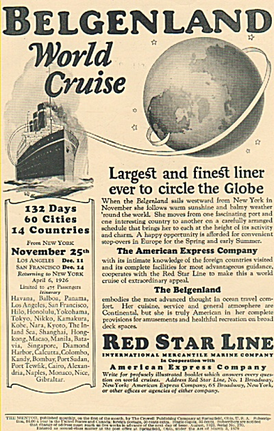 REd Star Line -  American express company ad 1925 (Image1)