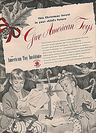 The American Toy Institute Ad