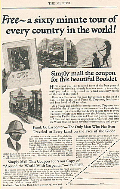 Doubleday, Page & Co. Ad 1925