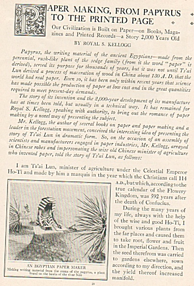 Paper making, from Papyrus to the printed page 1925 (Image1)
