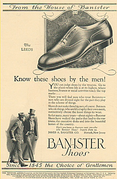 Banister shoes ad - 1925 (Image1)