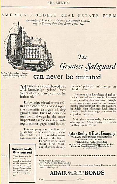 Adair protected first mortgage bonds ad 1925 (Image1)