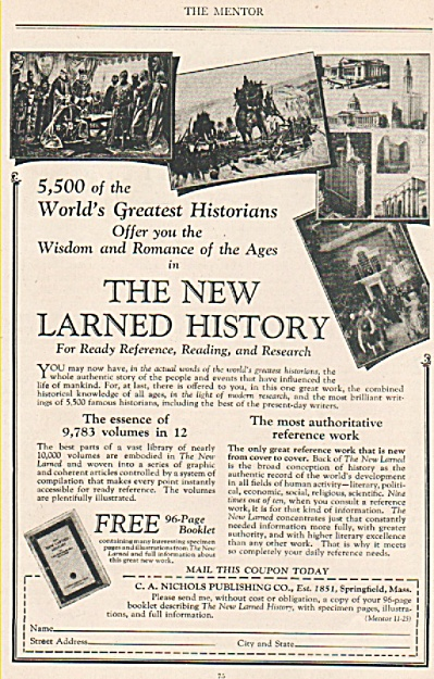 Ther New Larned History ad 1925 (Image1)