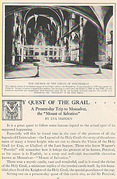 My Quest of the GRAIL  story by Eva MADDEN 1925 (Image1)