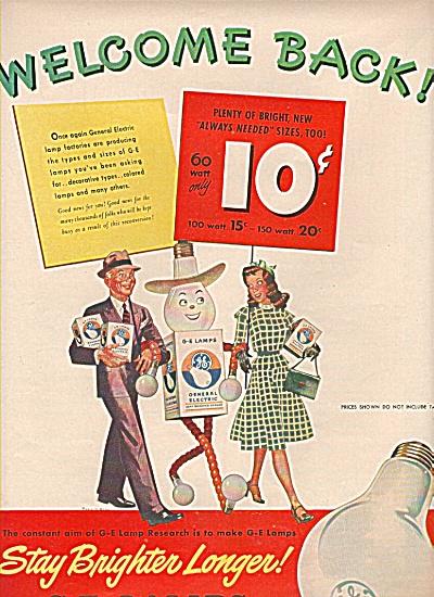 G-E Lamps ad (Image1)