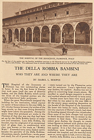 The Della Robbia Bambini story 1925 (Image1)