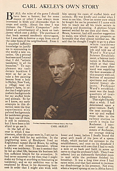 CARL AKELEY'S  own story - 1926 (Image1)