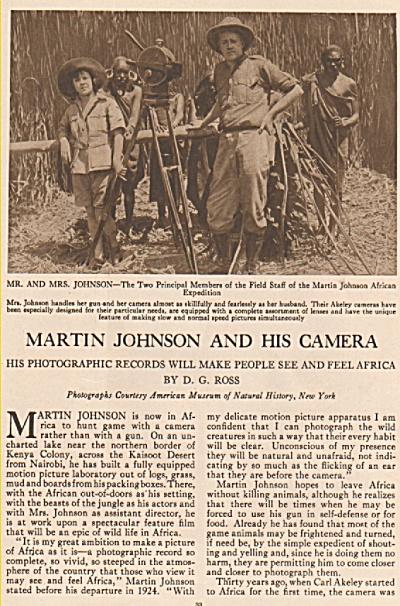 MARTIN JOHNSON  and his camera  - 1926 (Image1)
