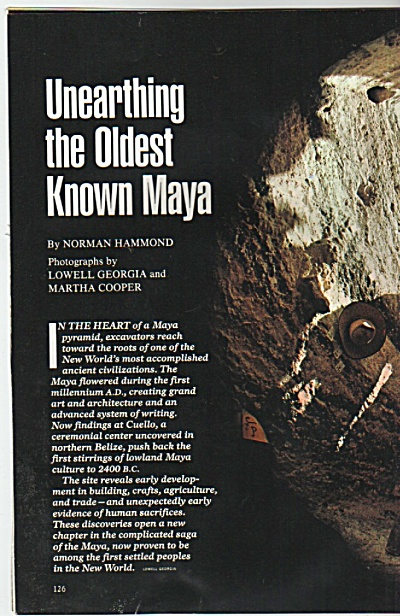 Unearthing the Oldest Known Maya - 1982 (Image1)