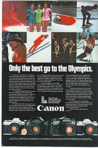 Canon cameras ad 1980 (Image1)