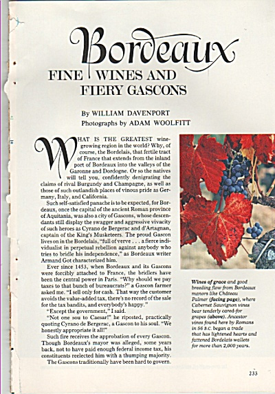 BORDEAUX, fine wines and fiery Gascons story 1980 (Image1)