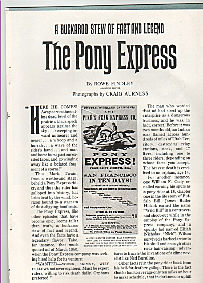 THE PONY EXPRESS  story 1980 (Image1)