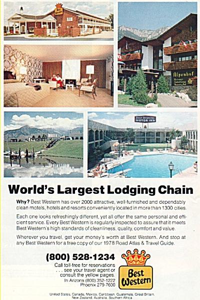Best Western motel chain ad 1978 (Image1)