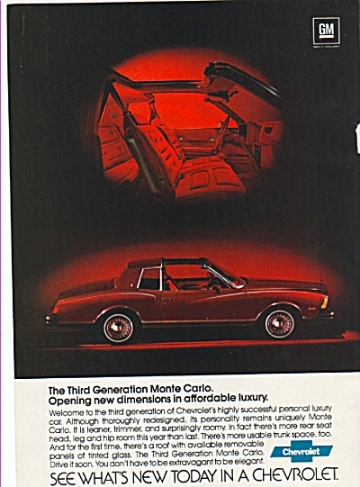 Chevrolet Monte Carlo ad 1978 (Image1)