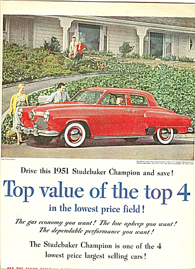 studebaker automobile for 1951 ad (Image1)