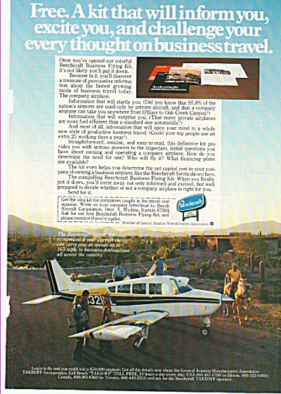 Beechcraft airplane ad 1978 (Image1)