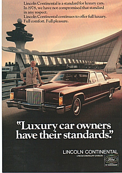 Lincoln Continental ad 1978 (Image1)