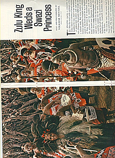 Zulu King Weds a Swazi Princess  1978 (Image1)
