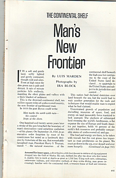 Man's New Frontier -= THE COKNTINENTAL SHELF 1978 (Image1)