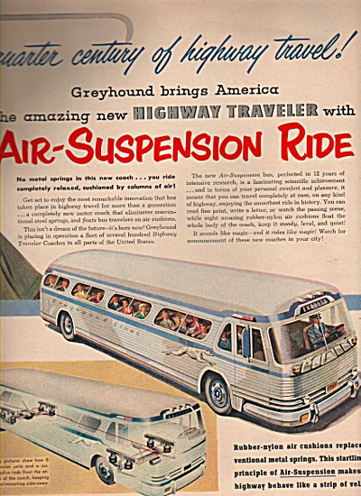 Greyhound Bus Ad 1953