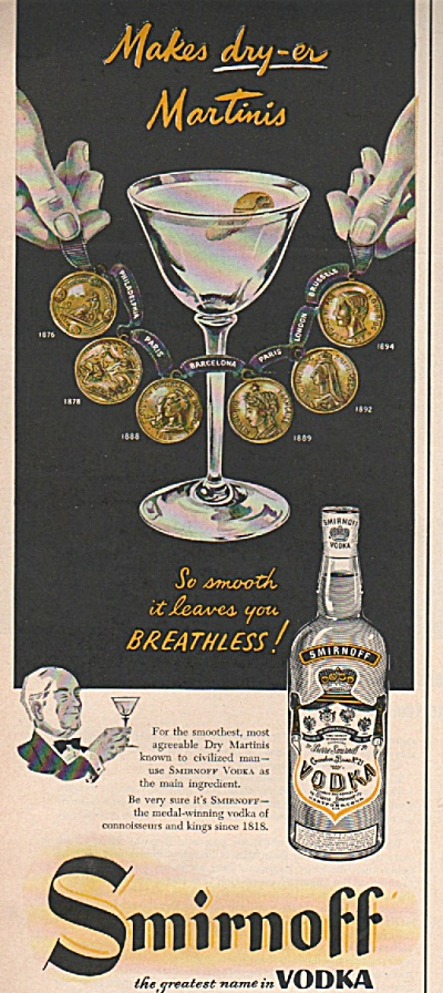 Smirnoff Vodka Ad 1953