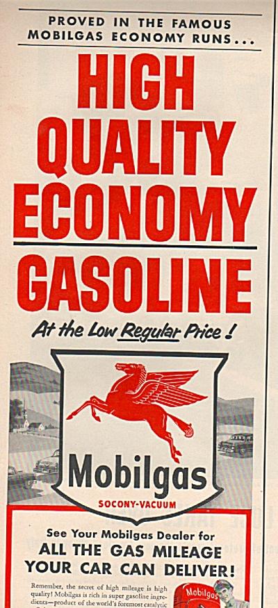 Mobilgas gasoline ad 1953 (Image1)