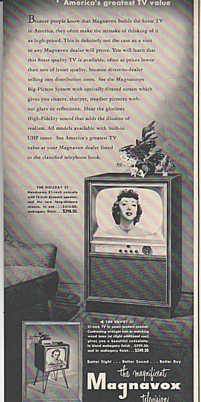Magnavox television - 1953 (Image1)