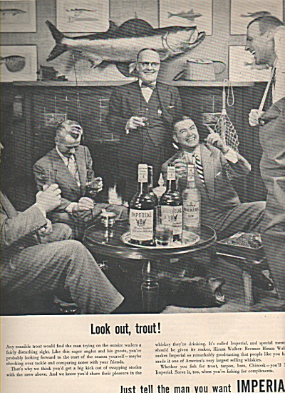 Imperial Whiskey Ad 1953