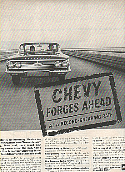 Chevrolet automobile ad 1960 (Image1)