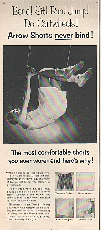 Arrow Shorts Ad 1953