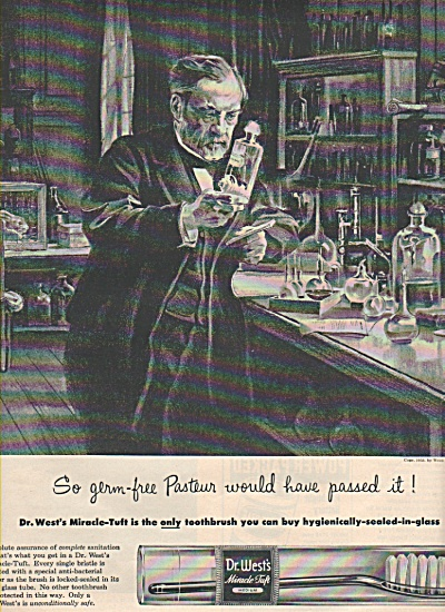 Dr. West's miracle tuft tooth brush ad 1953 (Image1)