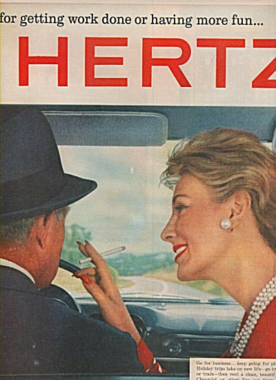 Hertz car rental ad 1960 (Image1)