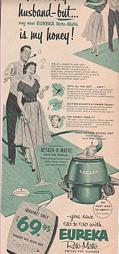 Eureka swivel top cleaner ad 1953 (Image1)
