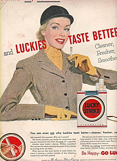 Lucky Strike cigaretes ad 1953 (Image1)