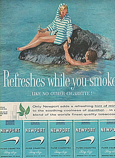 Newport filter cigarettes ad 1960 (Image1)