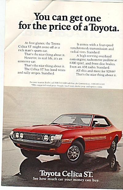 Toyota Celica ST ad 1972 (Image1)