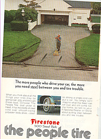 Firestone tires ad 1972 TIRE TROUBLE (Image1)