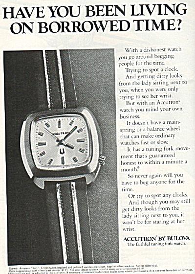 Accutron by Bulova watch ad 1972 (Image1)