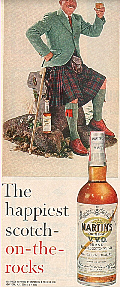 Martin';s original V.V.scotch whiskey ad 1960 (Image1)