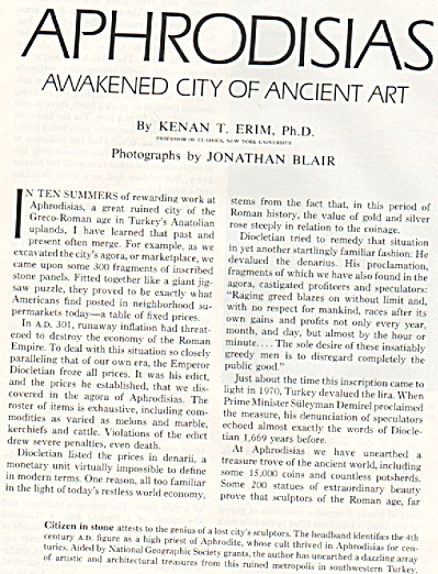 Aphrodisias- Awakened City Of Anciet Art - 1972