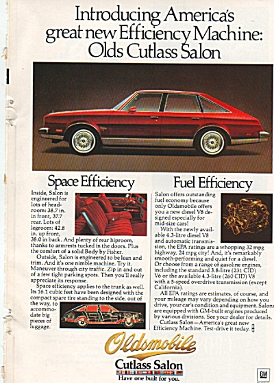 Oldsmobile Cutlass Salon ad 1978 (Image1)