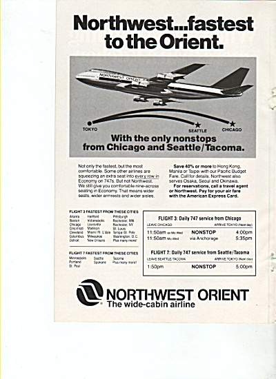 Northwest Orient airline ad 1978 (Image1)