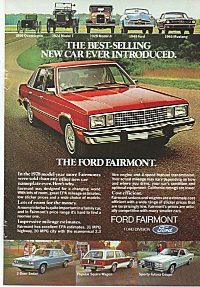 Ford Fairmont ad 1978 (Image1)