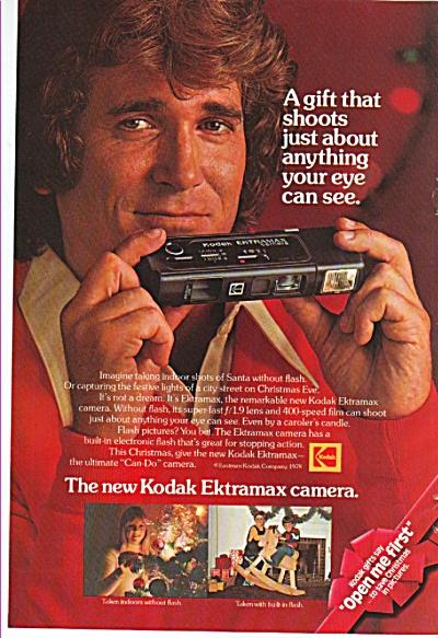 Kodak Ektramax camera  - MICHAEL LANDON  ad 1978 (Image1)