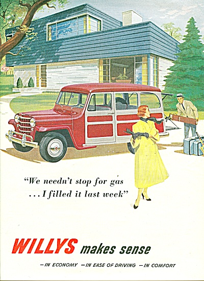 Willys Car Automobile Ad 1951