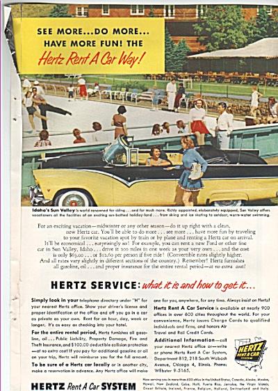 Hertz rent a car ad 1955 (Image1)
