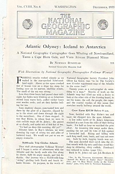 Atlantic Odyssey:  ICELAND TO ANTARCTICA  1955 (Image1)