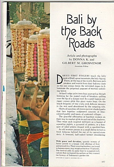 BALI by the back roads story - 1969 (Image1)