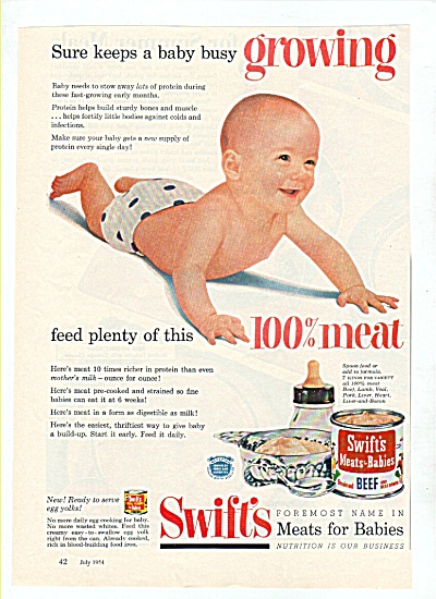 swift's meats for babies ad 1954 (Image1)