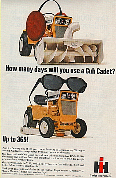 International Harvester cub cadet ad 1969 (Image1)